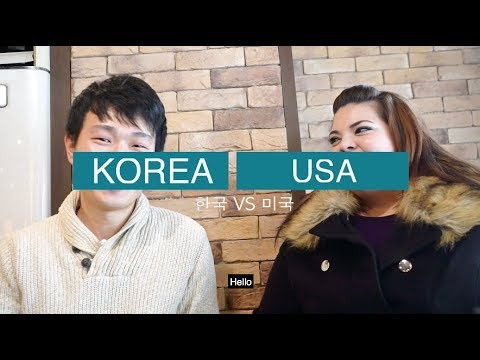 America vs Korea _ Compare Work, Public transportation, Men 한국 vs 미국 일, 대중교통, 남자비교
