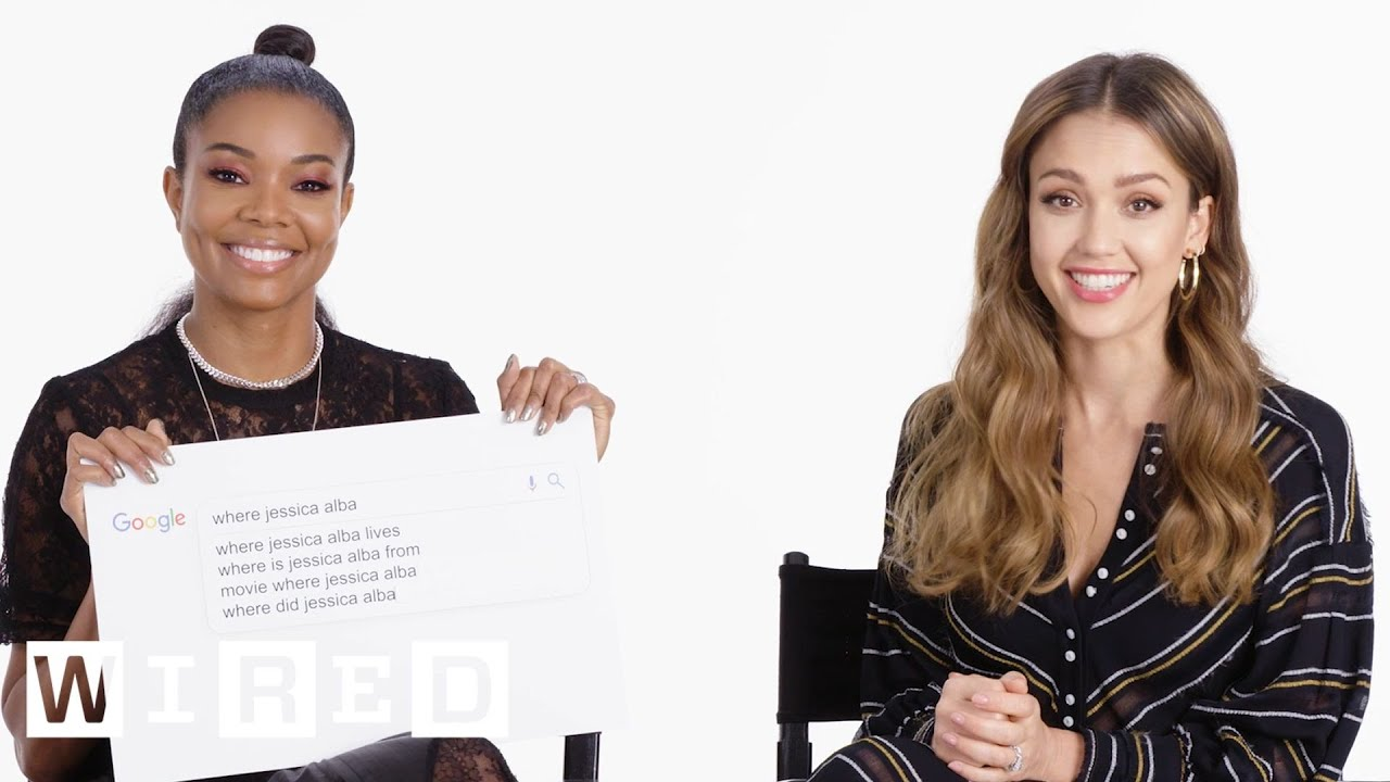 Jessica Alba & Gabrielle Union Answer the Web's Most Searched Questions