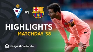 Highlights SD Eibar vs FC Barcelona (2-2)