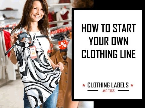 How To Start Your Own Clothing Line Youtube