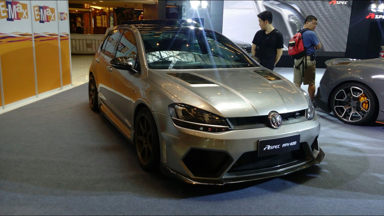 volkswagen golf r mk7 with aspec ppv400 body kit youtube. Black Bedroom Furniture Sets. Home Design Ideas