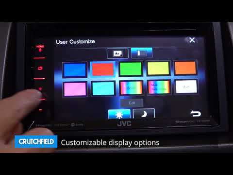 JVC KW-V350BT Display And Controls Demo | Crutchfield Video