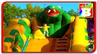 New Great Outdoor FUN INFLATABLE SLIDES for kids OUTSIDE PLAYGROUND Bounce Play Center Bogdan's Show
