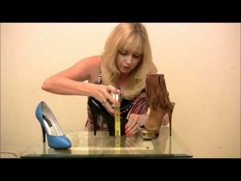 how to measure the heel height of a shoe  youtube