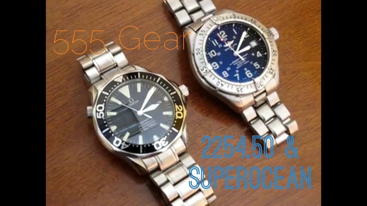 Omega Seamaster Professional 2254.50 vs. Breitling Superocean Seconds Sweep  Comparo - YouTube