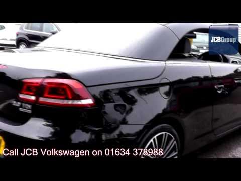 2011 Volkswagen Eos Exclusive Bluemotion 2l Deep Black Metallic GK61NFM for sale at JCB VW Medway