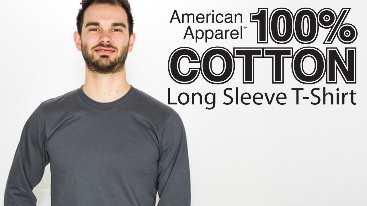 d3efb7ec0a Custom American Apparel Long Sleeve T Shirt on a Guy Model (Style 2007)