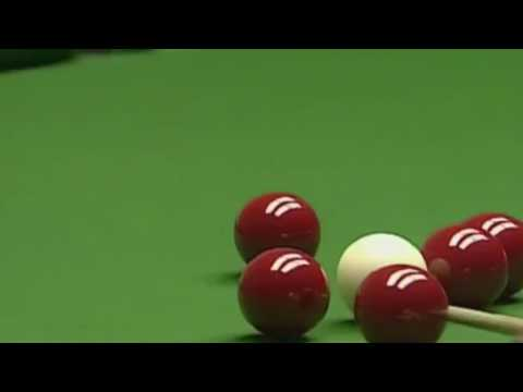 Ronnie O'Sullivan's 147 break but every time he pots a ball Virgo says where's the cue ball going