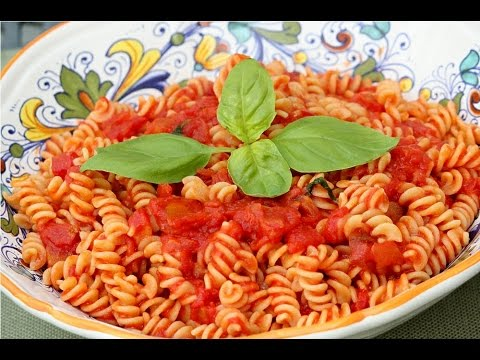 Fusilli Pasta with Tomato Sauce - Rossella's Cooking with Nonna ...