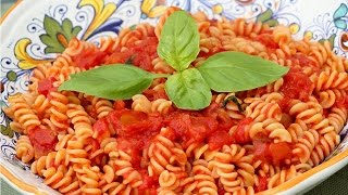 Fusilli Pasta with Tomato Sauce - Rossella's Cooking with Nonna