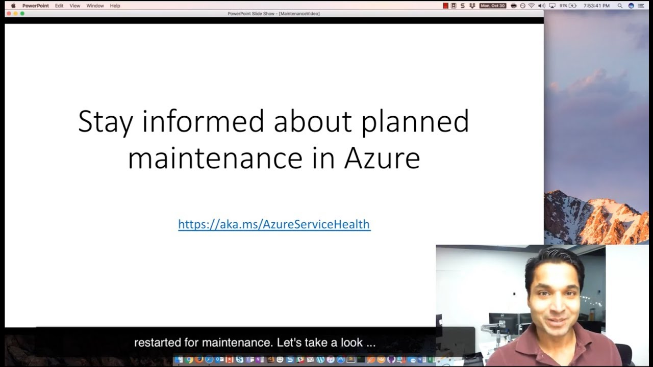 Azure Service Health - Planned Maintenance
