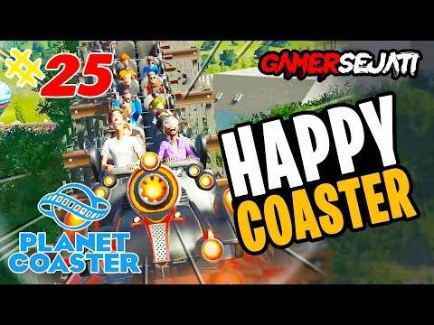 Planet Coaster | ROLLER COASTER iNi BiKiN SEMUA HAPPY 😂