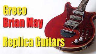 Brian May Greco BM900 Japanese Replica Guitars BM80 BM90 First Red Special Copy before Guild Burns