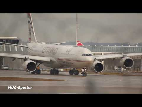 Airbus A-340 Special Compilation 30min Action Takeoff & Landings Kuwait Airways Ethiad Mahan ....