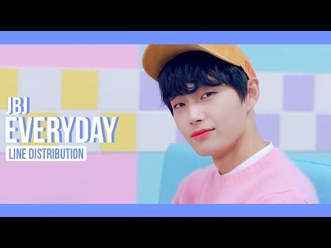 JBJ - Everyday Line Distribution (Color Coded)   제이비제이 - 매일