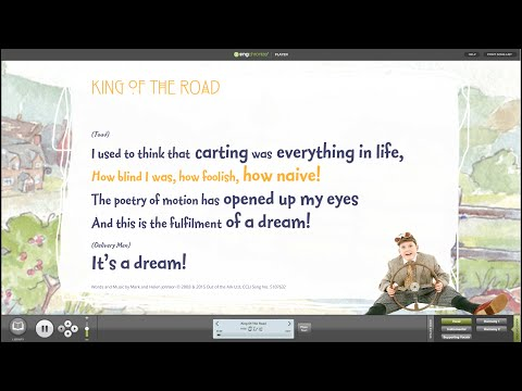 King Of The Road [Wind In The Willows™ Musical] - Words on Screen™ v2 Sample