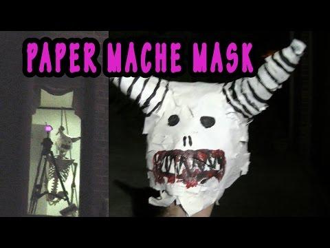 diy PAPER MACHE MASK FOR skeleton