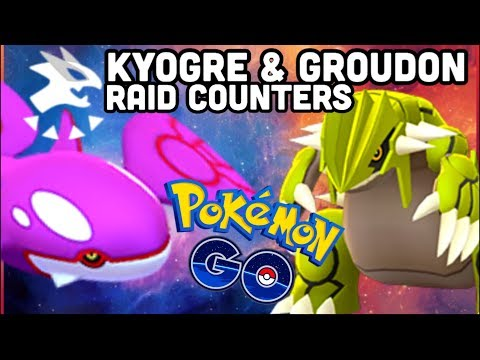 GROUDON & KYOGRE RAID COUNTERS IN POKEMON GO   THE SHINY HUNT IS ON! thumbnail