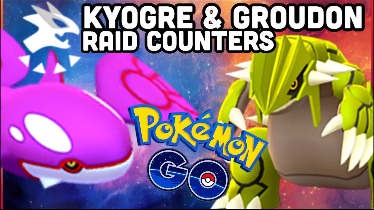 GROUDON & KYOGRE RAID COUNTERS IN POKEMON GO | THE SHINY HUNT IS ON!