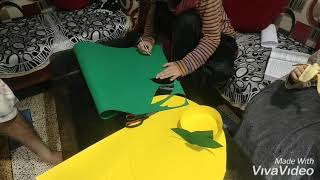 How to make dress for kids /fruit fancy dress competition/paper fruit costume