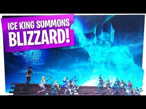 FIRST REACTIONS to the Fortnite ICE STORM EVENT - ICE BALL/KING SUMMONS BLIZZARD thumbnail