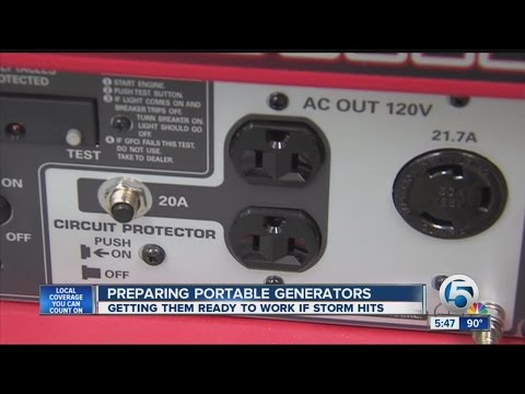 Steps to take now so your portable generator will provide electricity when the power is knocked out