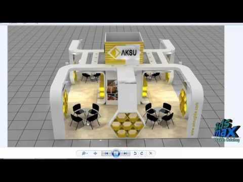 3ds max stand tasarımı - Part 1