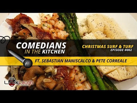 Simple Surf & Turf Recipe (ft. Sebastian Maniscalco & Pete Correale) | COMEDIANS IN THE KITCHEN from YouTube · Duration:  6 minutes 32 seconds