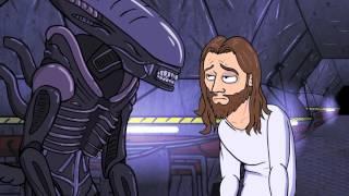 JesusAVGN   мультфильм про приключения в Alien  isolation