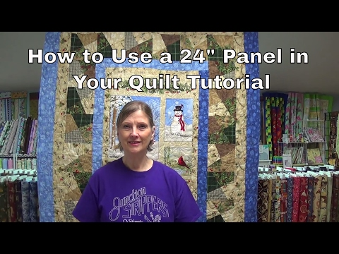 """How To Use a 24"""" Panel in Your Quilt by www.junctionfabric.com"""
