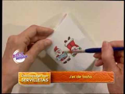 Mirta biscardi bienvenidas tv aplica decoupage con for Decoupage con servilletas en muebles