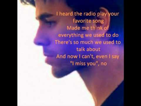 Enrique Iglesias - Coming Home Lyrics