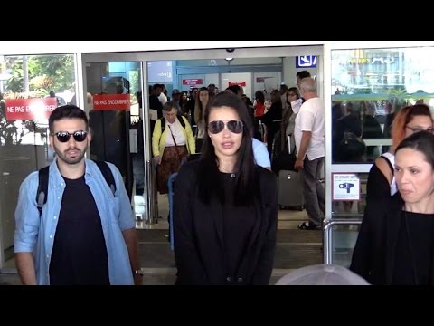 EXCLUSIVE : Model Adriana Lima arriving at Cannes airport