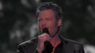 blake shelton came here to forget acm awards 2016