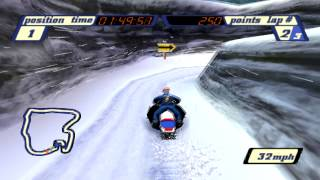 Sled Storm Gameplay Championship Open Mountain (PSX,PS)