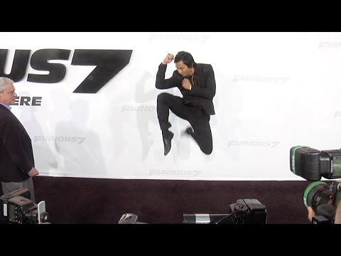 "Tony Jaa ""Furious 7"" Los Angeles Premiere STUNTS"