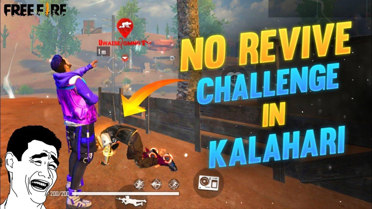 No Revive Challenge In Kalahari Map- Duo Vs Duo With Uwaish By Romeo Free Fire🙂