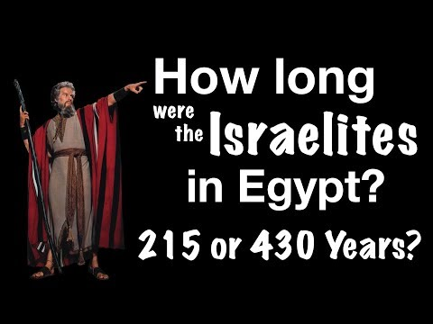 How Long Were The Israelites In Egypt? 215 Or 430 Years? (BOTH VIEWS EXPLAINED)