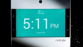 An old tablet slapped onto a light switch — NuBryte fails to impress