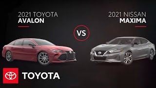 homepage tile video photo for 2021 Toyota Avalon v Nissan Maxima | Toyota