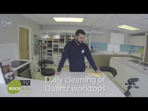 Daily cleaning of Quartz worktops