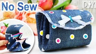 DIY Wallet for GIRLS | Jeans PURSE NO SEW Tutorial From scratch
