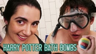 Trying Harry Potter Sorting Hat Bath Bombs • Saf & Tyler