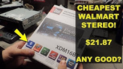 CHEAPEST CAR STEREO AT WALMART, How Bad Is It? | Headunit | Radio | DUAL XDM16BT