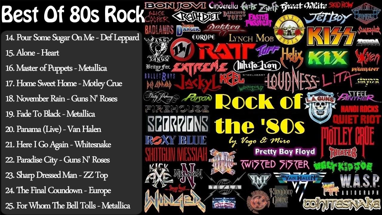 Best Of 80s Rock Greatest 80s Rock Songs 80s Rock