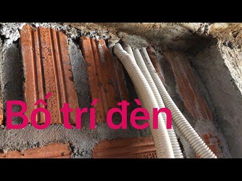 cách bố trí đèn âm trần bê tông, công tắc, ổ cắm cho nhà tầng  electrical engineering  kỹ thuật điện