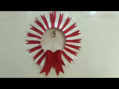 PAPER WREATH CHRISTMAS DECORATIONS