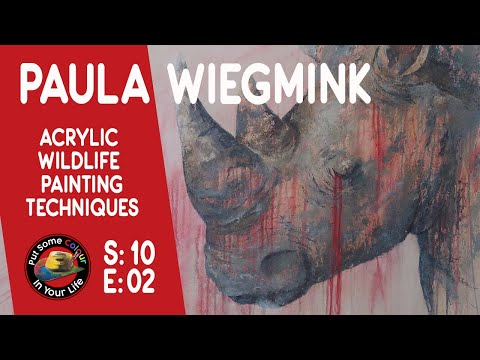 Fine art tips Painting Acrylic Wildlife with Paula Wiegmink on Colour In Your Life