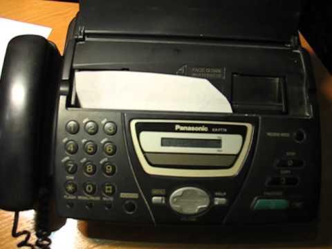 Как распечатать факс из памяти panasonic