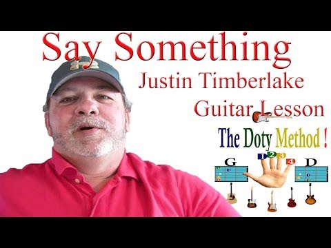 how to play say something on the guitar